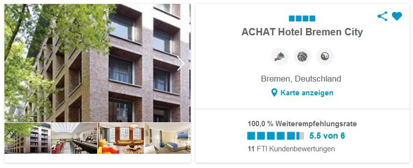ACHAT Hotel Bremen City Deutschland