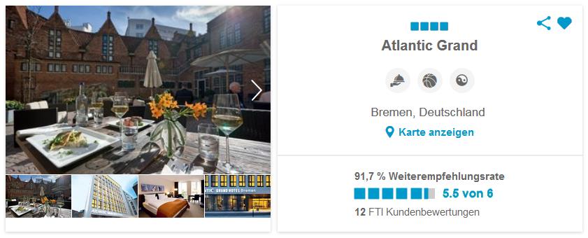 Atlantic Grand Hotel Bremen, Deutschland