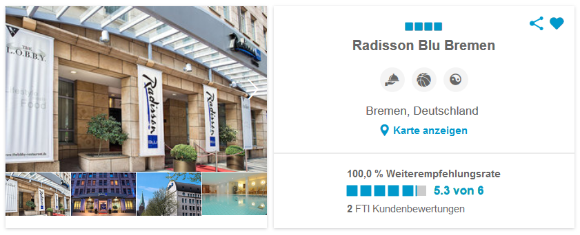 Radisson Blu Bremen, Deutschland