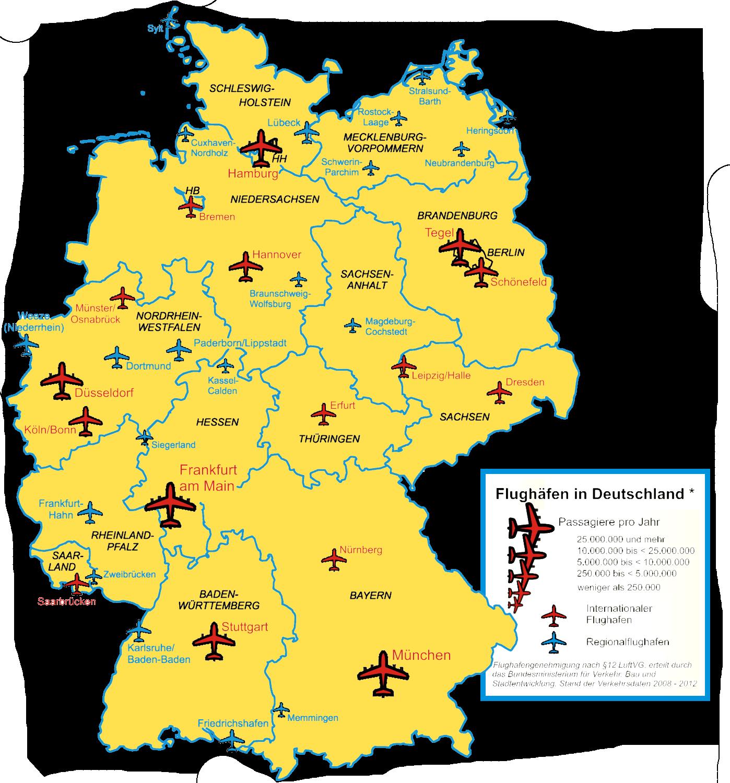 Flughäfen Deutschland alle
